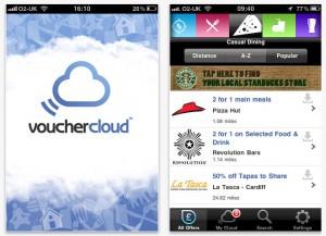 iPhone vouchercloud app